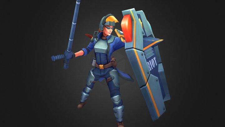 Riot Gear Leona - Pose3 3D Model