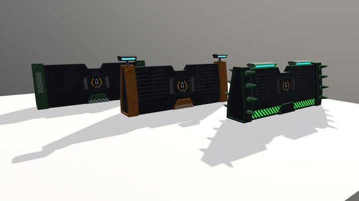 Athoros - Walls 3D Model