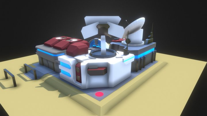 станция 3D Model