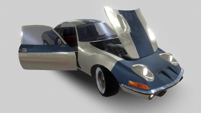 Opel GT Retopo 3D Model