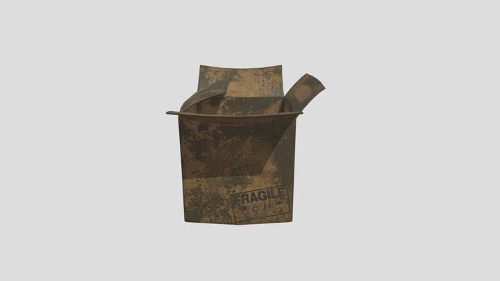 Dirty Cardboard Box 3D Model