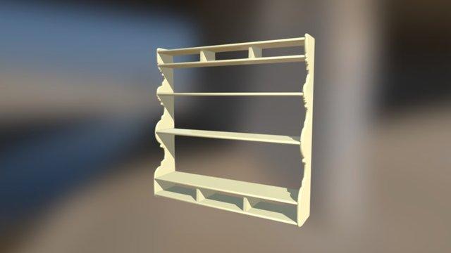 Colonial Pinewood Shelf 3D Model