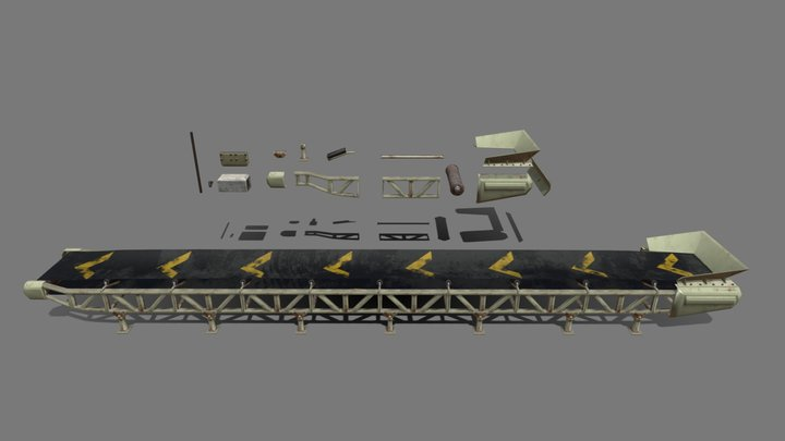 Quarry Conveyor system Kit 3D Model