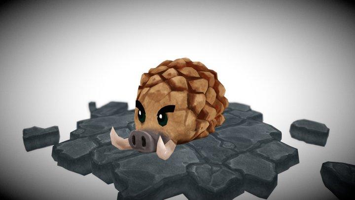 Crazy Critter Crate - Swinecone 3D Model