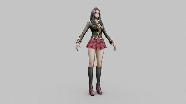 Kumisa Ositomo in schoolsuit 3D Model