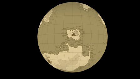 The world map of Yhilune 3D Model