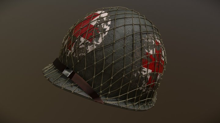 World War 2 - U.S. M1 Corpsman Helmet 3D Model