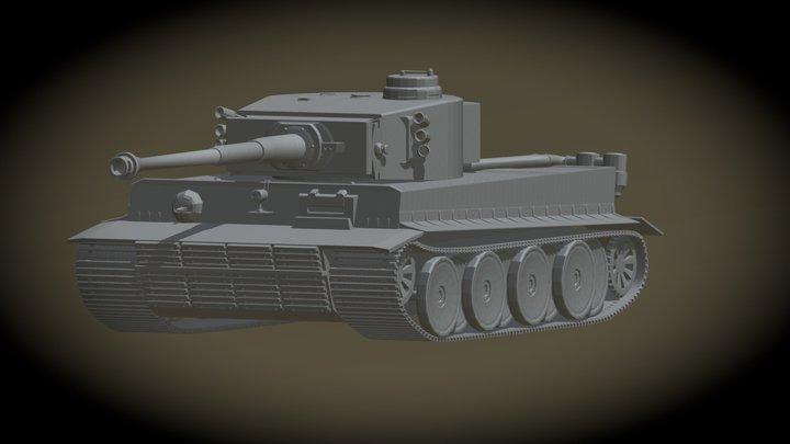 "Panzerkampfwagen VI ""Tiger"" 3D Model"