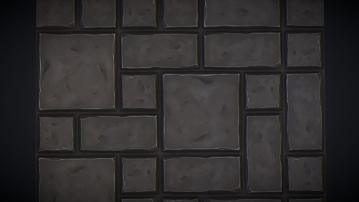 Tiled Cobblestone Floor Texture 3D Model