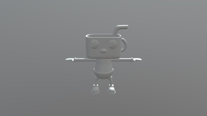 Cuphead 3D Model