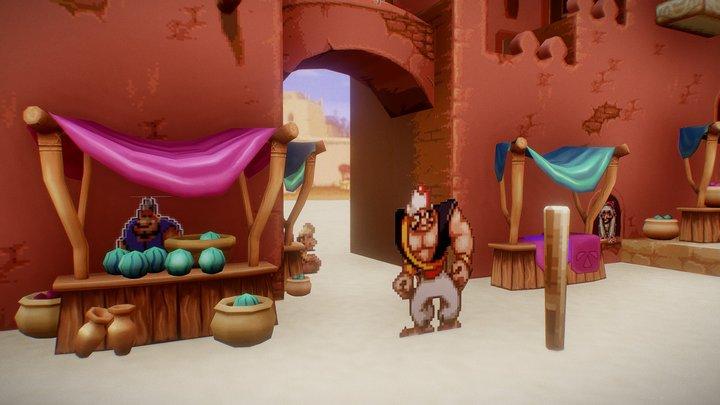Agrabah Market - Aladdin SNES 3D Model