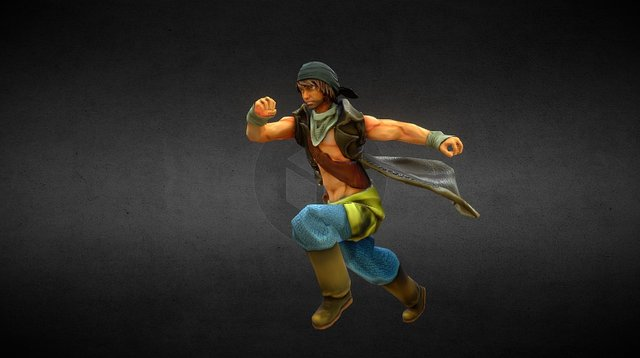 Pirate Posed 3D Model