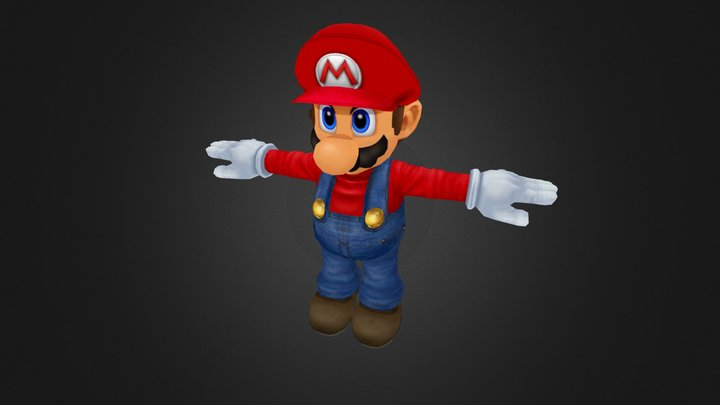 Super Smash Bros Melee - Mario.zip 3D Model