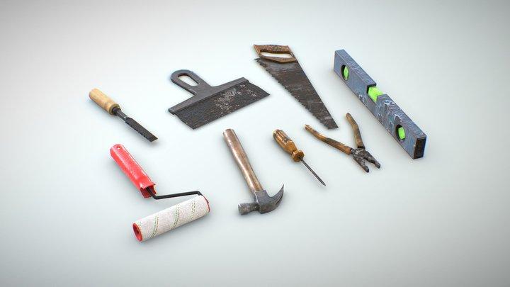 Old tools 3D Model