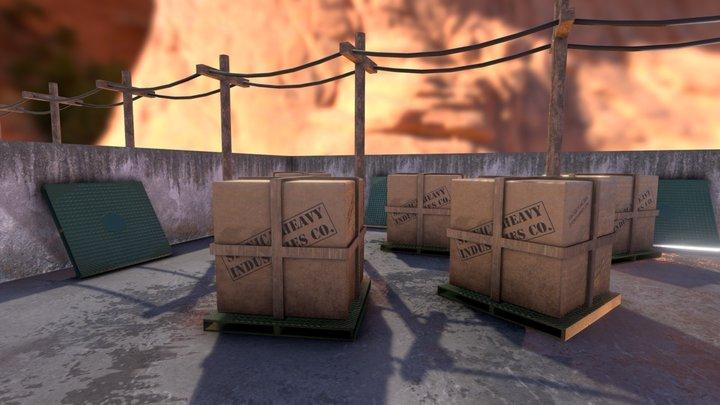 Dock Scene Sketch 3D Model