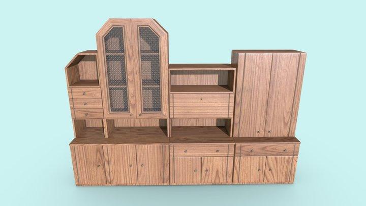 Shelving Unit | Game Assets 3D Model