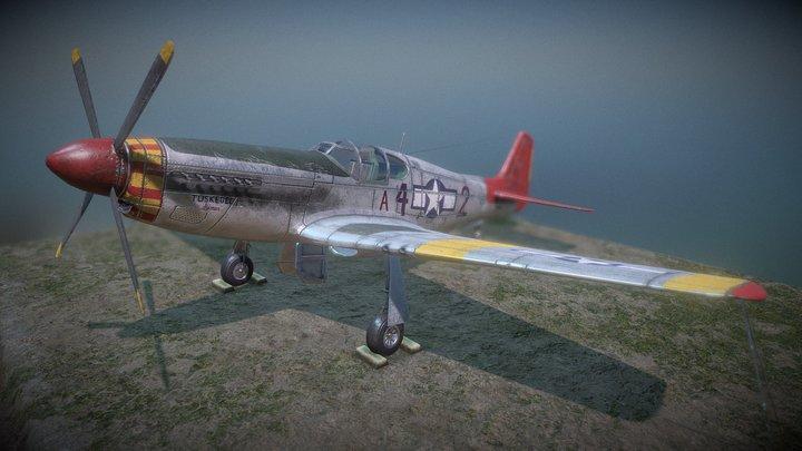 P-51C Mustang Final 3D Model