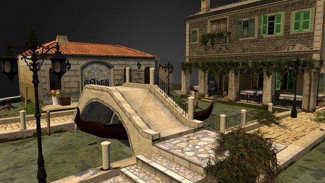 Low poly City Scene 3D Model