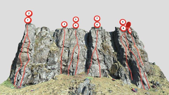 Akrafjall - main sport climbing sector 3D Model