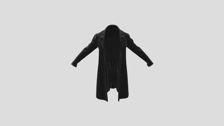 1830s Frock Coat (Unbuttoned) 3D Model
