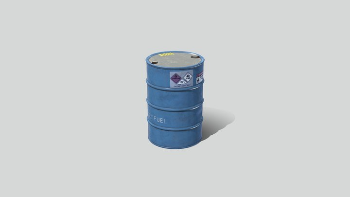 Industrial Barrel 01 3D Model