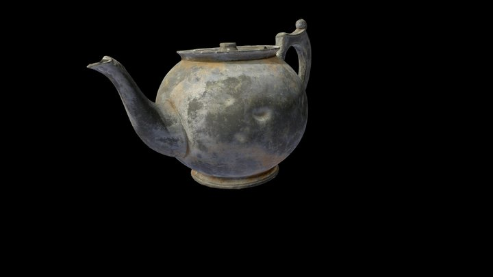 Pewter teapot from the wreck SS Gairsoppa 3D Model
