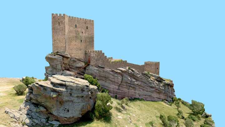 Castle Zafra, Game of Thrones filming location 3D Model