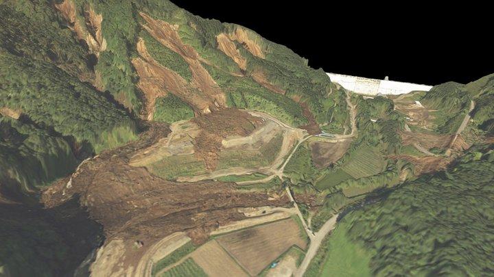 厚幌ダム 北海道胆振東部地震 3D Model