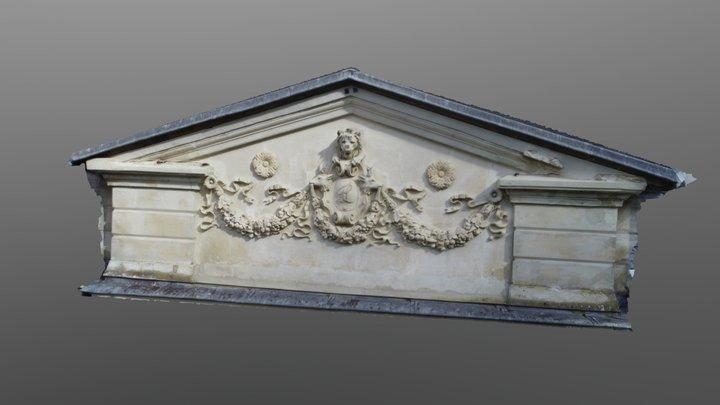 Abbaye Du Valasse - Fresque 3D Model