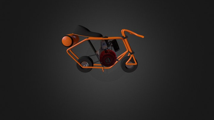 minibike Honda GX160 engine 3D Model