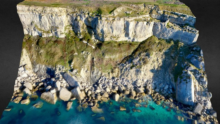 Cliff Face, Isle of Portland 3D Model