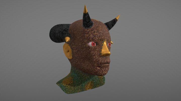 Golden Demon Head 3D Model