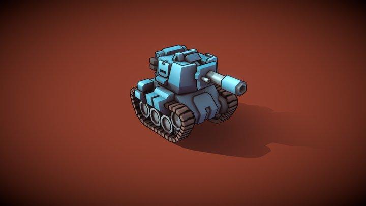 Stylized Tank 3D Model