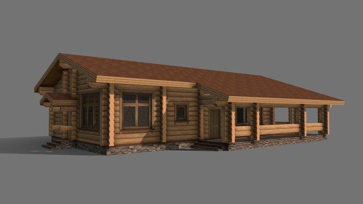Проект бани (Лафет) 3D Model