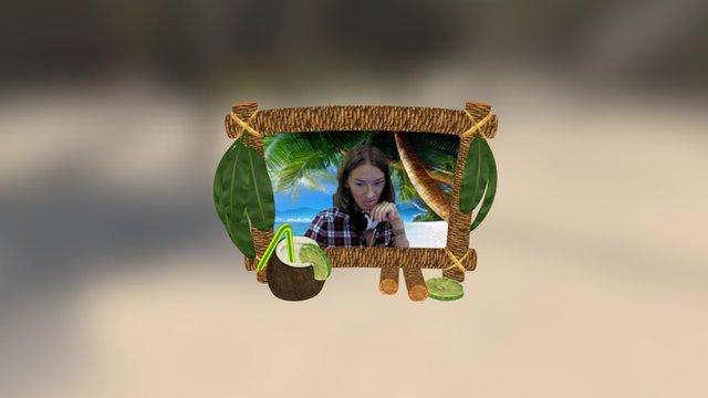 Vacation Fun Face 3D Model