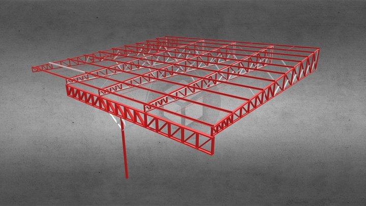 Estrutura Reforçada 3D Model
