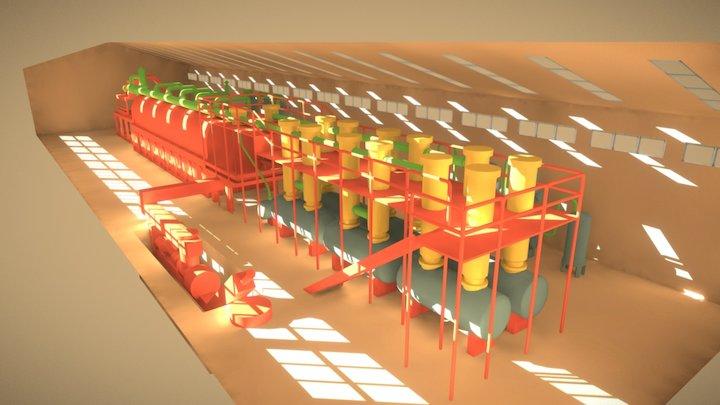 PTL Plant Colored 3D Model