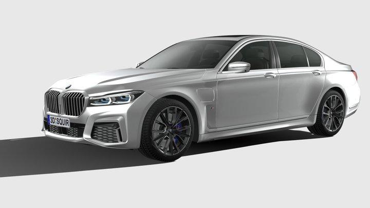 BMW 7-series M short 2020 3D Model