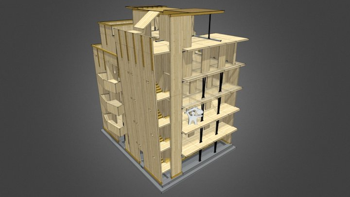 6 CLT storey in Modena (MO) 3D Model