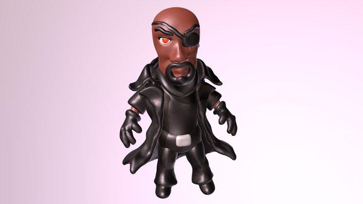 NICK FURY CHIBI version 3D Model