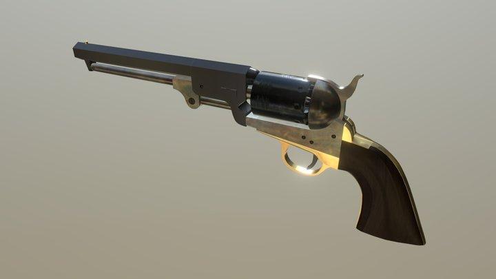 U.S. Colt 1851 Navy .36 cal Percussion Revolver 3D Model