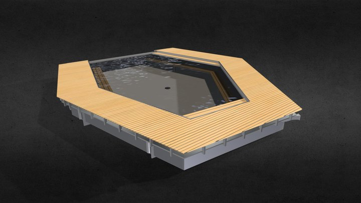 Floating pool 3D Model