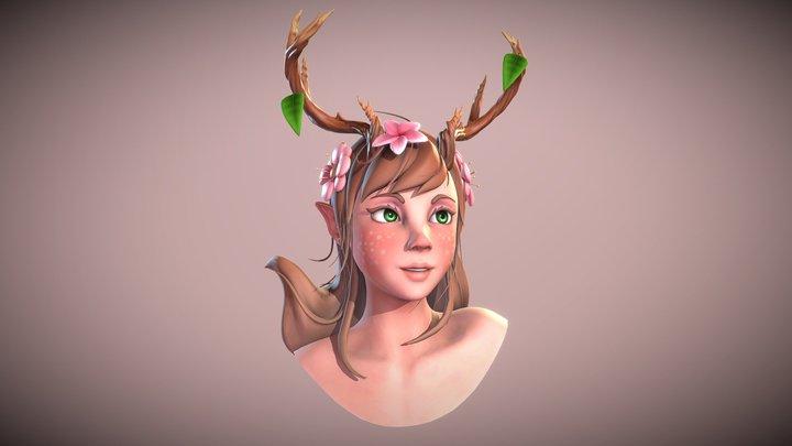 Nature Girl 3D Model