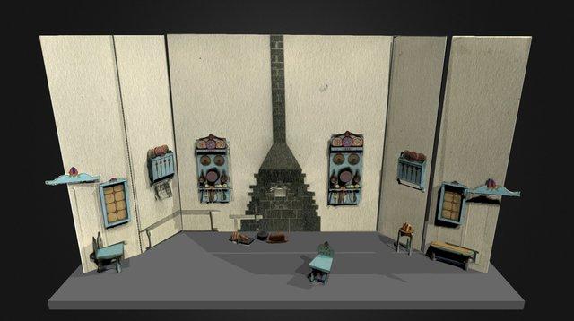 Toldi - Nemzeti Bábszínjáték Jelenet1 3D Model