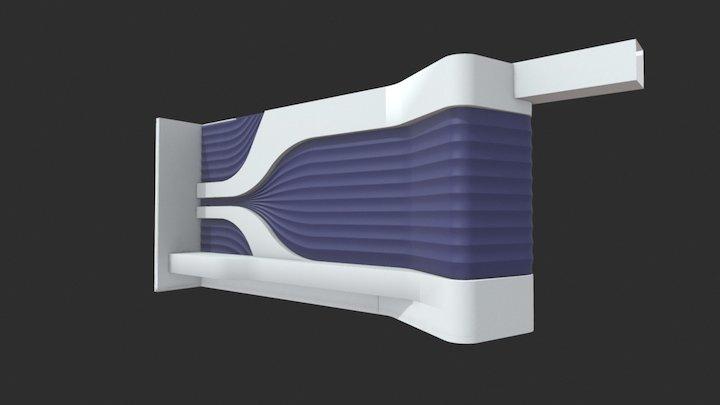 Wall_3d_lotus 3D Model