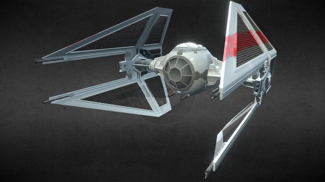 Tie-Interceptor - by Valerio Domenici 3D Model