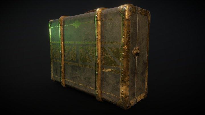 Art deco suitcase 3D Model