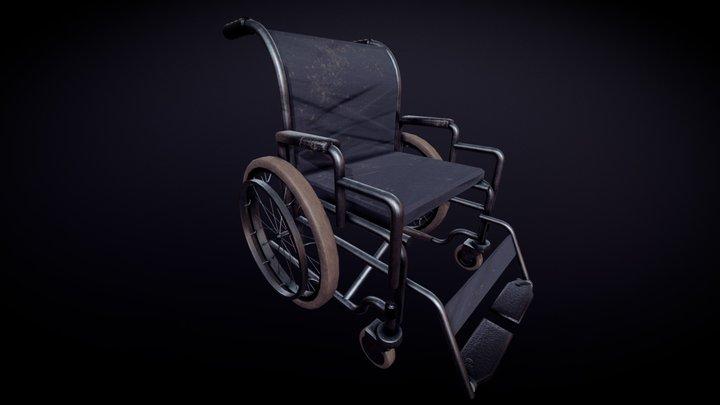 Wheel Chair 'Aged' 3D Model