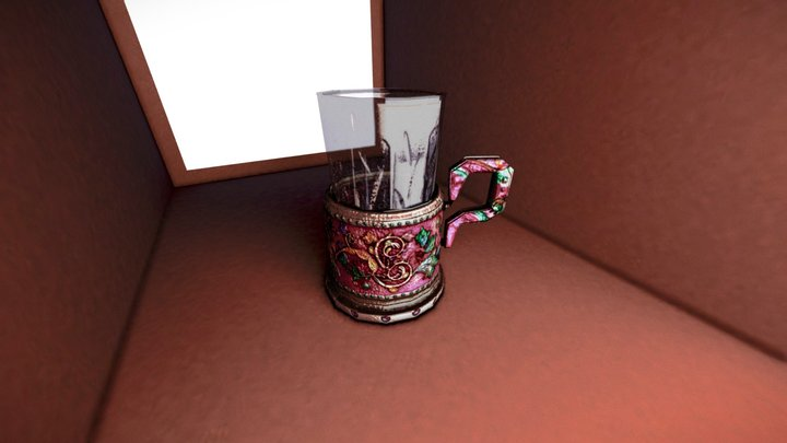 One REALLY Ugly Pink Cupholder 3D Model