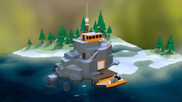 Ranger River Post 3D Model